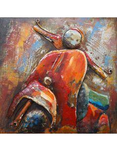 Tableau Métal SCOOTER VOYAGE  - par Arte Espina
