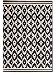 Tapis tissé 300 Noir Blanc - par Arte Espina
