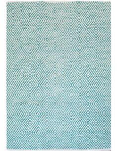 Tapis fait à la main Turquoise 310 APPETIZER - par Arte Espina