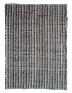 Tapis fait à la main ECHECS 310 Natural Bleu - par Arte Espina