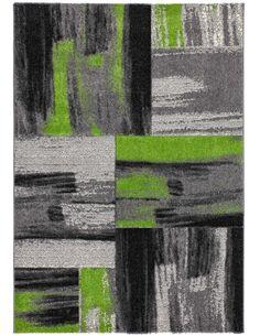 Tapis tissé DOMINIQUE RoseAU Vert - par Arte Espina