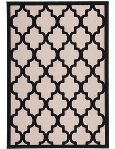 Tapis tissé MANOLYA 3097 Noir Taupe - par Arte Espina