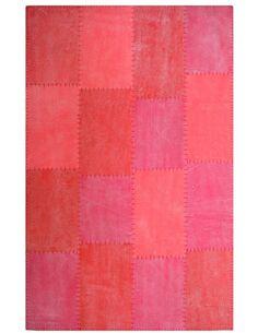 Tapis fait à la main 110 LYRICAL Multicolore Rouge - par Arte Espina