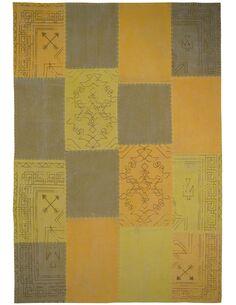 Tapis fait à la main 210 LYRICAL Multicolore Jaune - par Arte Espina
