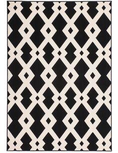 Tapis tissé 100 Noir Blanc - par Arte Espina