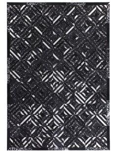Tapis fait à la main SPARK 410 Noir Argent - par Arte Espina