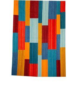 Tapis fait à la main RADICAL 335 Rouge Multicolore - par Arte Espina