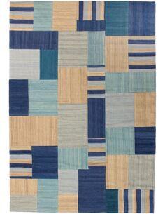 Tapis fait à la main RADICAL 315 Bleu Multicolore - par Arte Espina