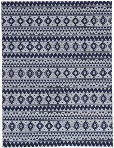 Tapis extérieur fait à la main ENSOLEILLÉ 210 Bleu - par Arte Espina