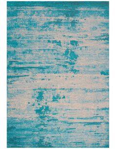 Tapis tissé MONTSERRAT PLYMOUTH Turquoise - par Arte Espina