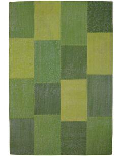 Tapis fait à la main 110 LYRICAL Multicolore Vert - par Arte Espina