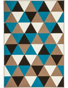Tapis tissé 200 Multicolore Turquoise - par Arte Espina
