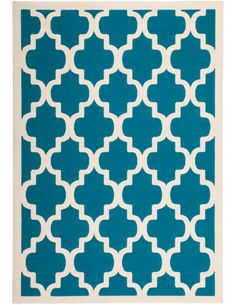 Tapis tissé MANOLYA 2097 Turquoise - par Arte Espina