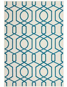 Tapis tissé 400 Ivoire Turquoise - par Arte Espina
