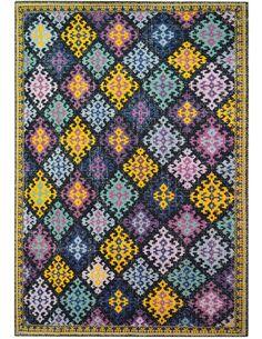Tapis fait à la main SOLITAIRE 110 Multicolore - par Arte Espina