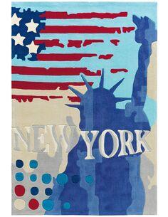 Tapis tufté à la main JOY 4202 TRICOLORE NYC - par Arte Espina