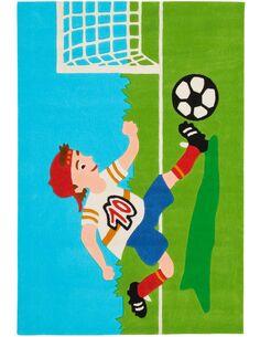 Tapis tissé JOY 4090 Multicolore FOOTBALL - par Arte Espina