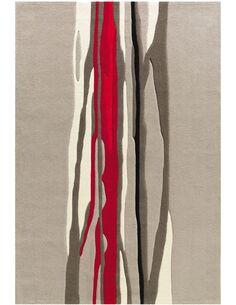 Tapis tissé SPIRIT 3088 Taupe Rouge - par Arte Espina