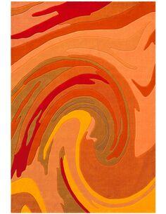 Tapis tissé JOY 4018 Orange - par Arte Espina