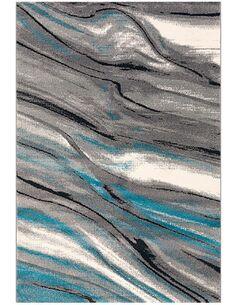 Tapis tufté à la main MOVE 4444 GRAU BLAU WEISS - par Arte Espina