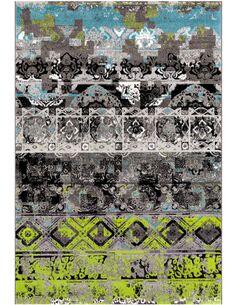 Tapis tissé MOVE 4454 GRAU GRÜN BLAU - par Arte Espina