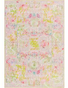 Tapis tissé À LA MAIN ATELIER 4478 Crème Multicolore - par Arte Espina