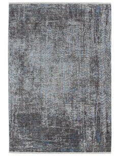 Tapis tissé ANTIGUA 300 GRAU TÜRKIS - par Arte Espina