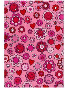 Tapis tissé MOVE 4484 ROSA FLOWERS - par Arte Espina
