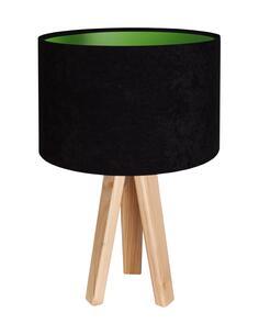 Lampe De Chevet KIDS Velour Noir avec Intérieur Vert - par BPS Koncept