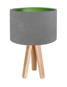 Lampe De Chevet KIDS Velours Gris avec Intérieur Vert - par BPS Koncept
