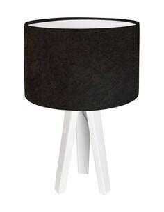 Lampe De Chevet CLASSIC Velour Marron avec Intérieur Blanc - par BPS Koncept