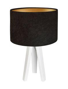 Lampe De Chevet GLAMOUR Velour Marron avec Intérieur Doré - par BPS Koncept