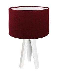 Lampe De Chevet CLASSIC Velour Rouge Foncé avec Intérieur Blanc - par BPS Koncept