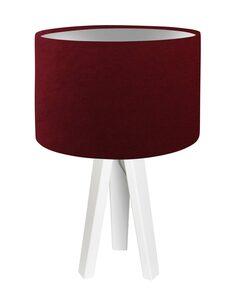 Lampe De Chevet GLAMOUR Velour Rouge Foncé avec Intérieur Argenté - par BPS Koncept