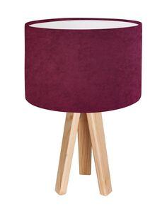 Lampe De Chevet CLASSIC Velour Violet avec Intérieur Blanc - par BPS Koncept