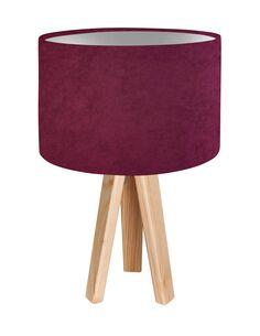 Lampe De Chevet GLAMOUR Velour Violet avec Intérieur Argenté - par BPS Koncept