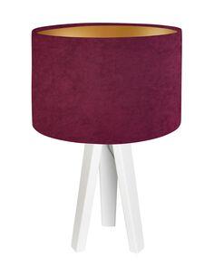 Lampe De Chevet GLAMOUR Velour Violet avec Intérieur Doré - par BPS Koncept
