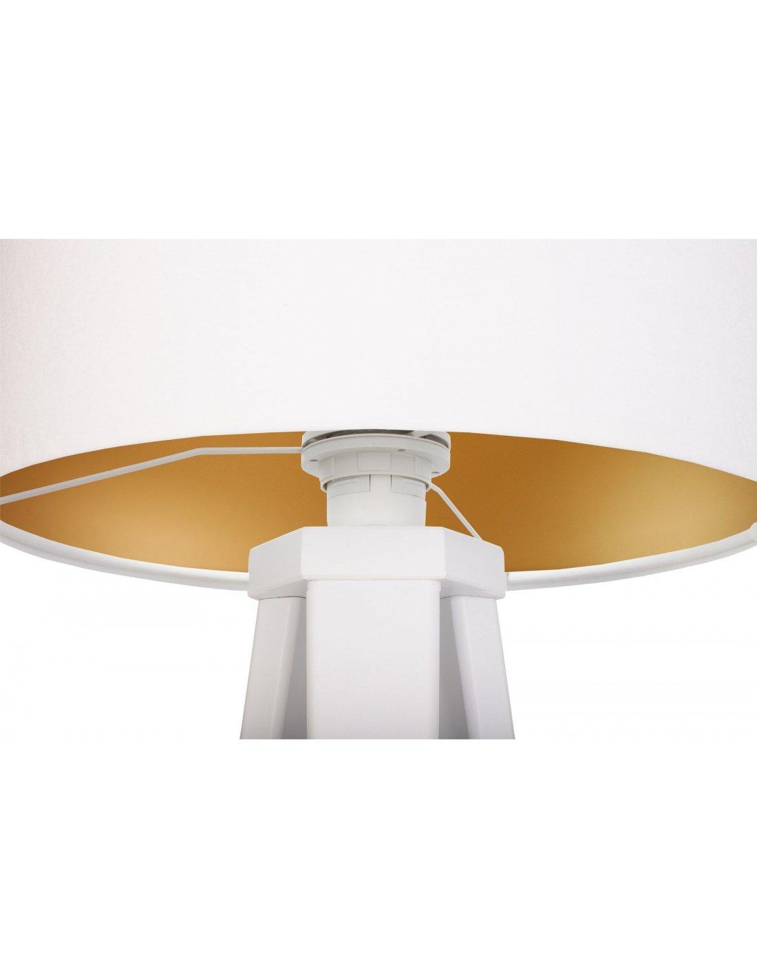 Blanc Avec Velours Glamour DoréBps Intérieur Lampe De Chevet b7yvIYfg6m