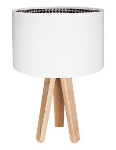 Lampe De Chevet MODERN Velours Blanc avec Intérieur Pied De Poule - par BPS Koncept