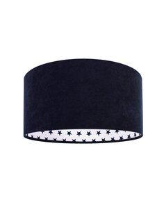 Suspension MODERN Velour Bleu avec Intérieur Blanc Motif Étoiles Bleu - par BPS Koncept