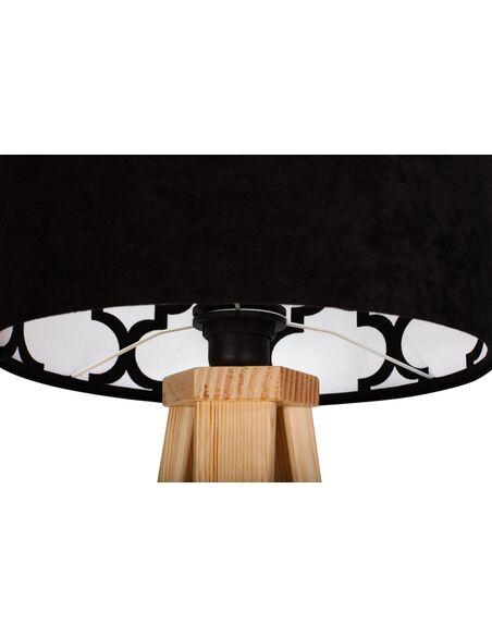 Modern Avec Noir Velour Chevet Lampe De Intérieur Motif LRjAc3S54q