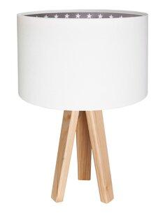 Lampe De Chevet KIDS Velours Blanc avec Intérieur Gris à Étoile Blanche - par BPS Koncept