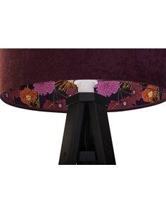 Lampadaire MODERN Velour Violet avec Motif Intérieur - par BPS Koncept