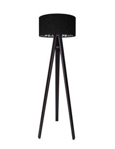 Lampadaire MODERN Velour Noir avec Motif Intérieur - par BPS Koncept
