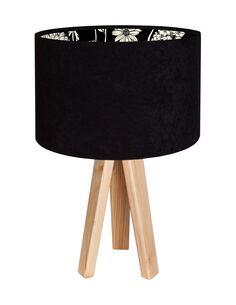 Lampe De Chevet MODERN Velour Noir avec Motif Intérieur - par BPS Koncept