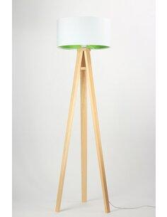Lampadaire KIDS Velours Blanc avec Intérieur Vert - par BPS Koncept