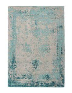 Tapis fait à la main NOSTALGIE 285 Turquoise - par Arte Espina