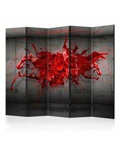 Paravent 5 volets RED INK BLOT II - par Artgeist