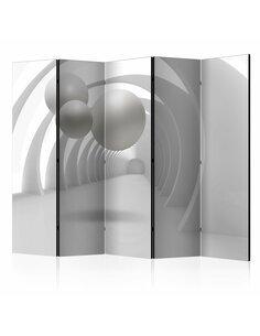Paravent 5 volets WHITE TUNNEL II - par Artgeist