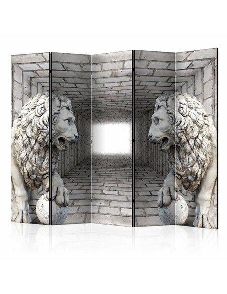 Paravent 5 volets STONE LIONS II - par Artgeist